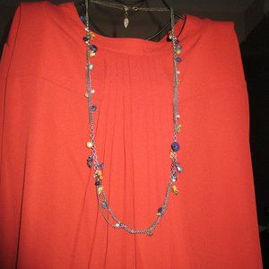 Coldwater Creek Necklace with Blue and Brown Stone